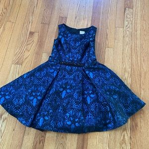 Zoe blue/black dress for girls